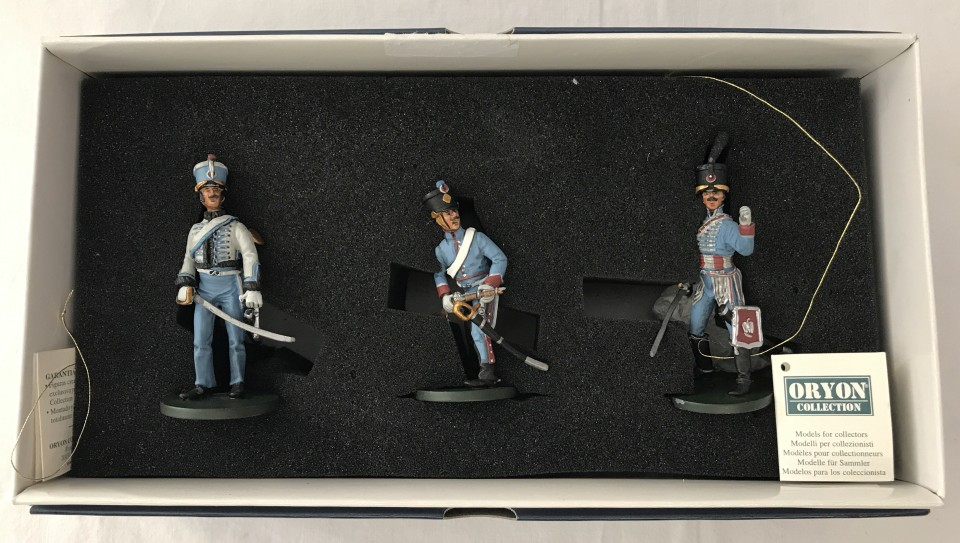 Lot 11 - A boxed Orion 3 piece set of lead Napoleonic soldier figures.
