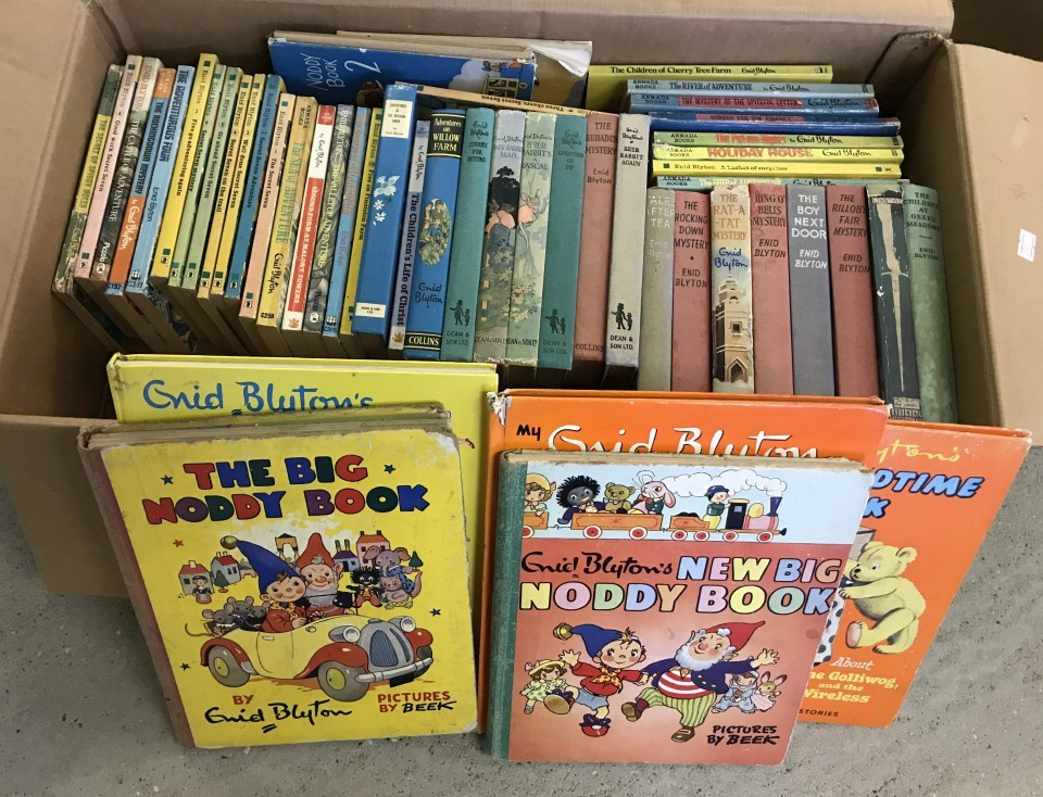 Lot 27 - A box of vintage Enid Blyton books.