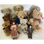 8 collectable Teddy Bears and 2 dolls.