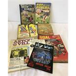 A small collection of vintage children's books including Brer Rabbit & Roy of the Rovers.