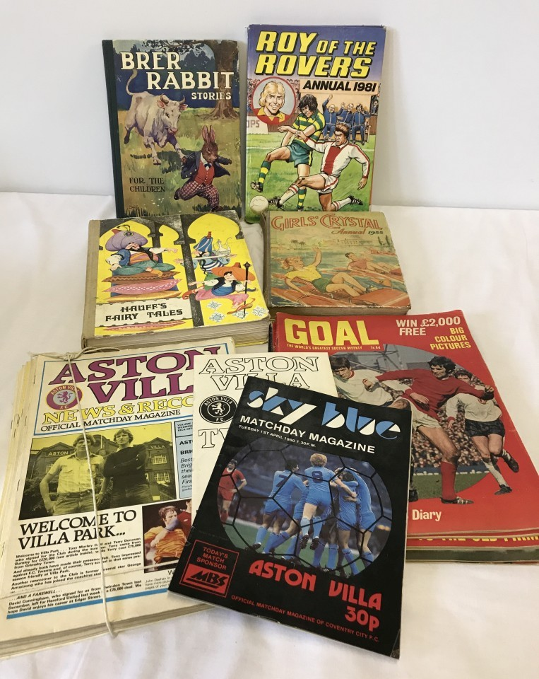 Lot 22 - A small collection of vintage children's books including Brer Rabbit & Roy of the Rovers.