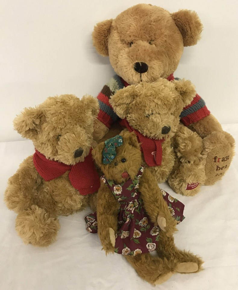 Lot 133 - 4 collectable Teddy bears.