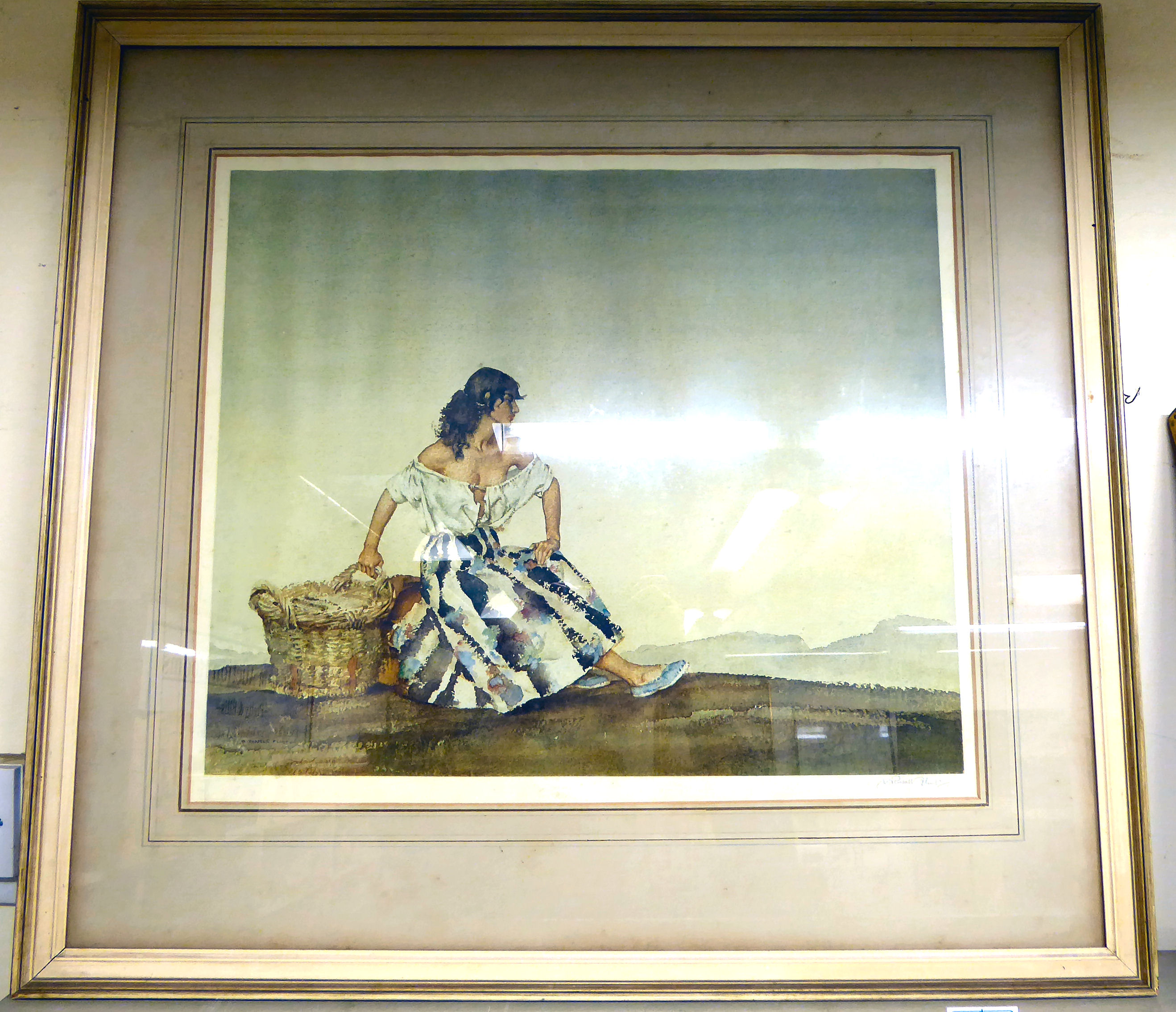 Lot 49 - William Russell Flint - 'Griselda' Artist's Proof coloured print bears a blindstamp,