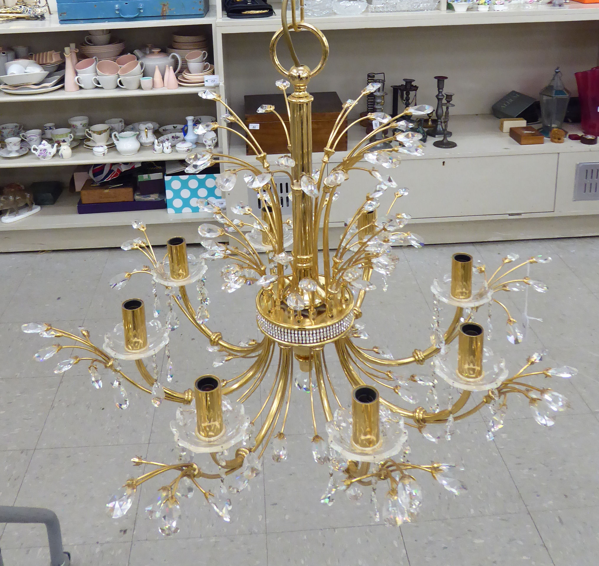 Lot 3 - A modern lacquered brass,