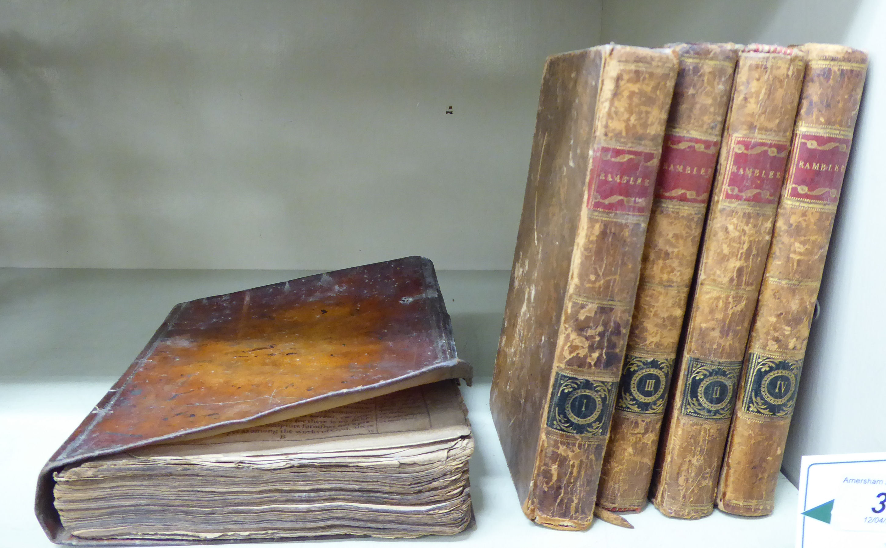Lot 34 - Books: an early 18thC publication of Biblical extracts;