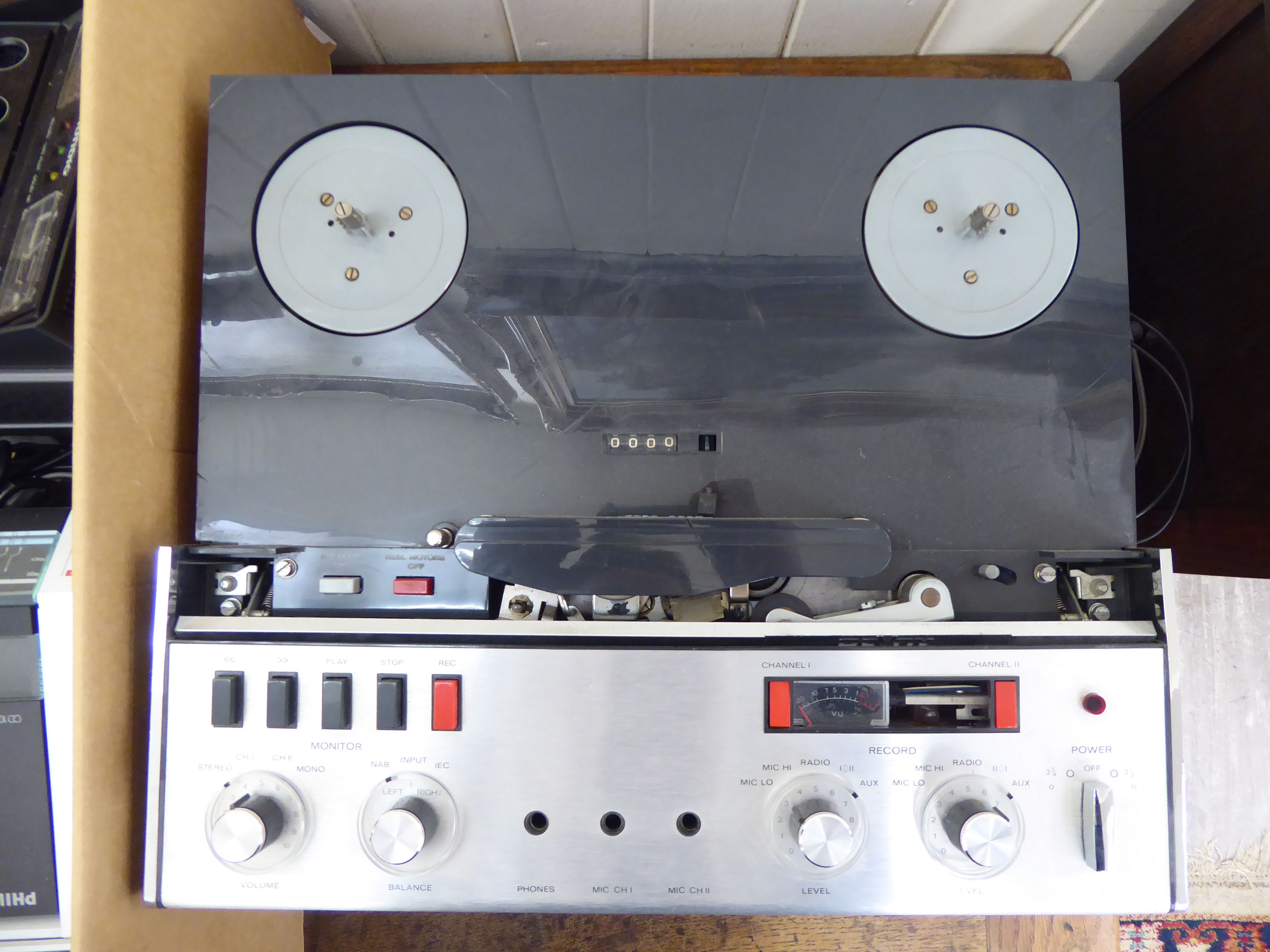 Lot 6 - Quad and other sound system equipment: to include a reel-to-reel recorder SL