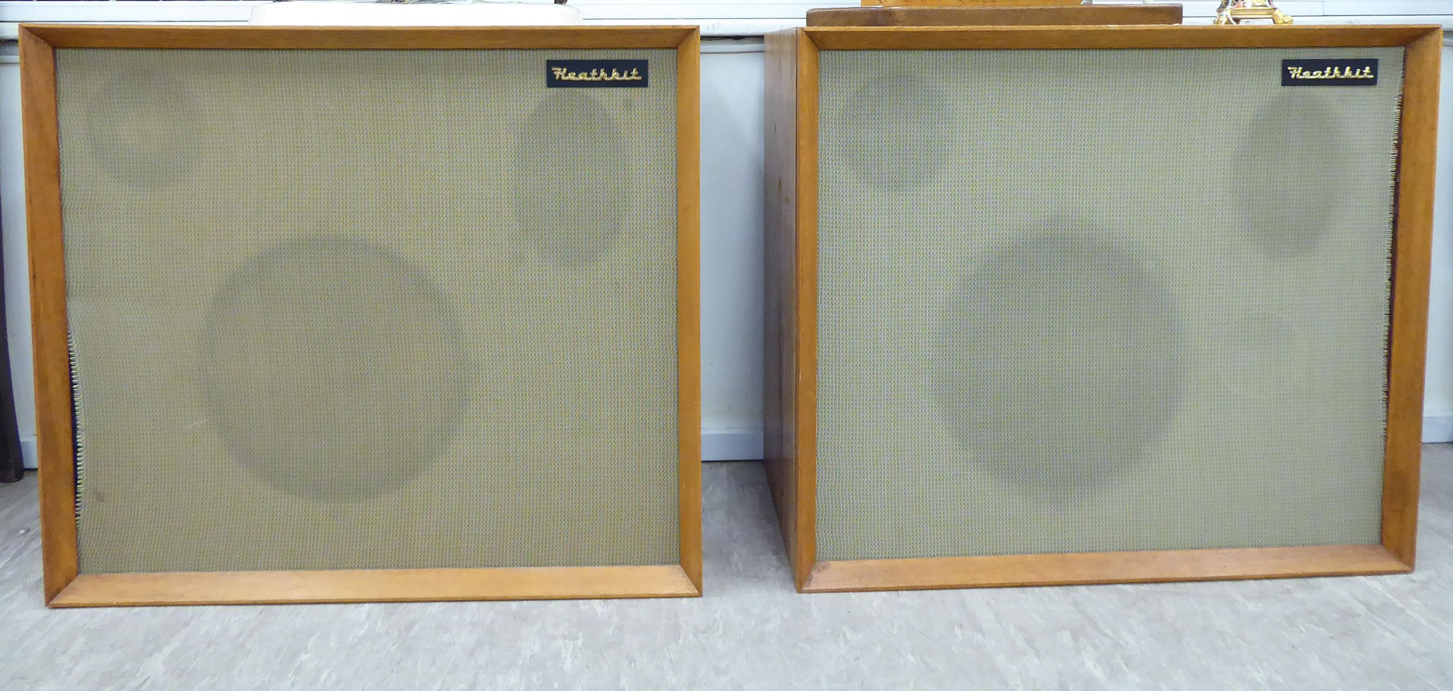 Lot 17 - A pair of Heathkit teak cased speakers 23''h 26''w SR