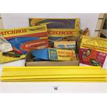 A GROUP OF VINTAGE MATCHBOX SUPERFAST RELATED ITEMS, INCLUDING SF-17 SLIPSTREAM CURVE, SF-20