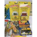 A COLLECTION OF VINTAGE DIE CAST VEHICLES, MOST BY DINKY AND CORGI, INCLUDING; CORGI CHEVROLET