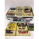 A COLLECTION OF VINTAGE DIE CAST MODEL VEHICLES, MOST BEING MATCHBOX MODELS OF YESTERYEAR, ALL