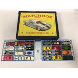 A VINTAGE MATCHBOX COLLECTORS CASE 41 CONTAINING A MIXED VARIETY OF SMALL DIE CAST VEHICLES BY