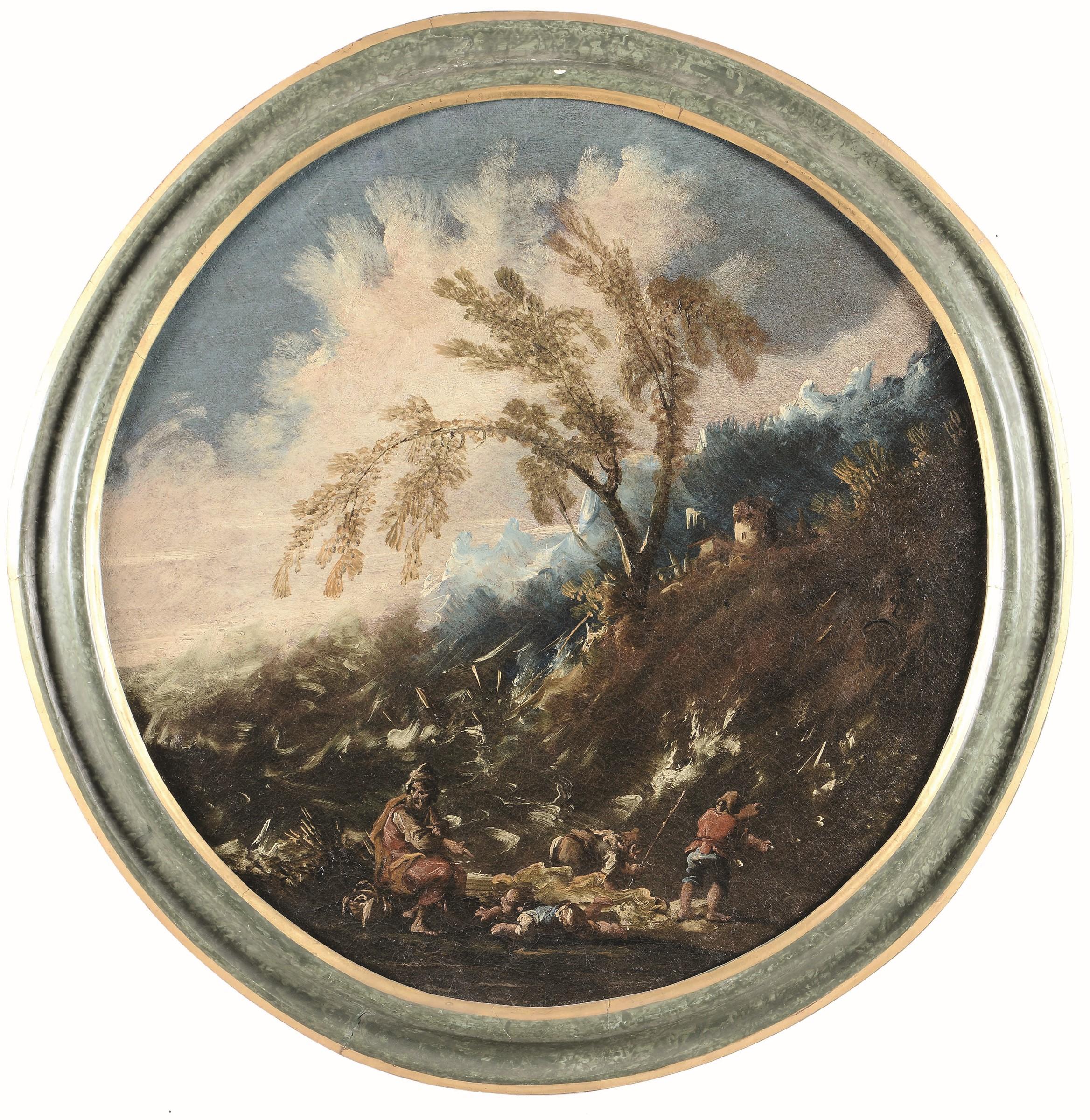 Anton Francesco Peruzzini (Ancona 1643 - Milano 1724), Paesaggio con contadini - [...] - Bild 2 aus 4
