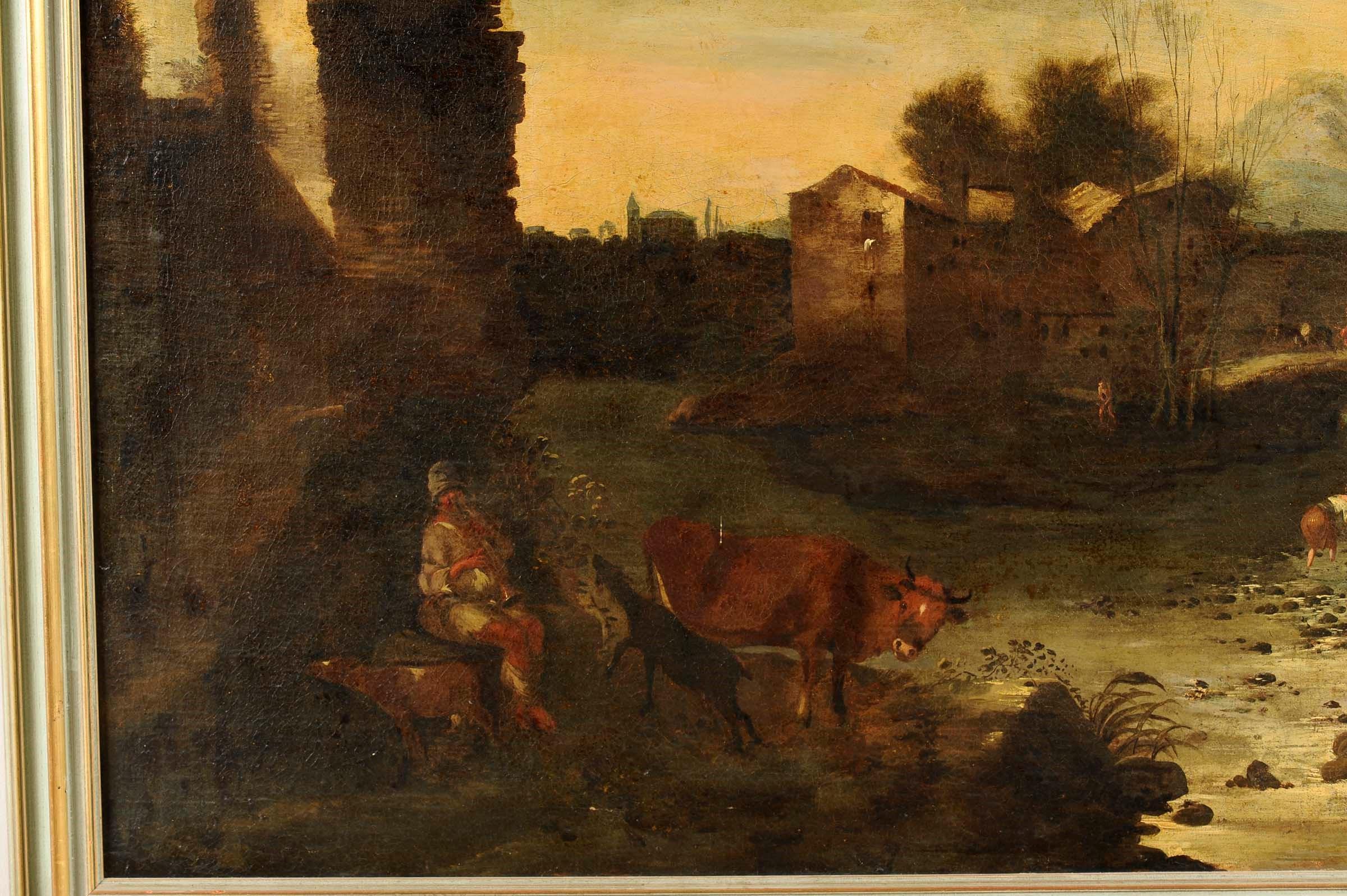 Antonio Travi detto il Sestri (Genova 1608-1665), Paesaggio con rovine e figure - [...] - Bild 2 aus 4