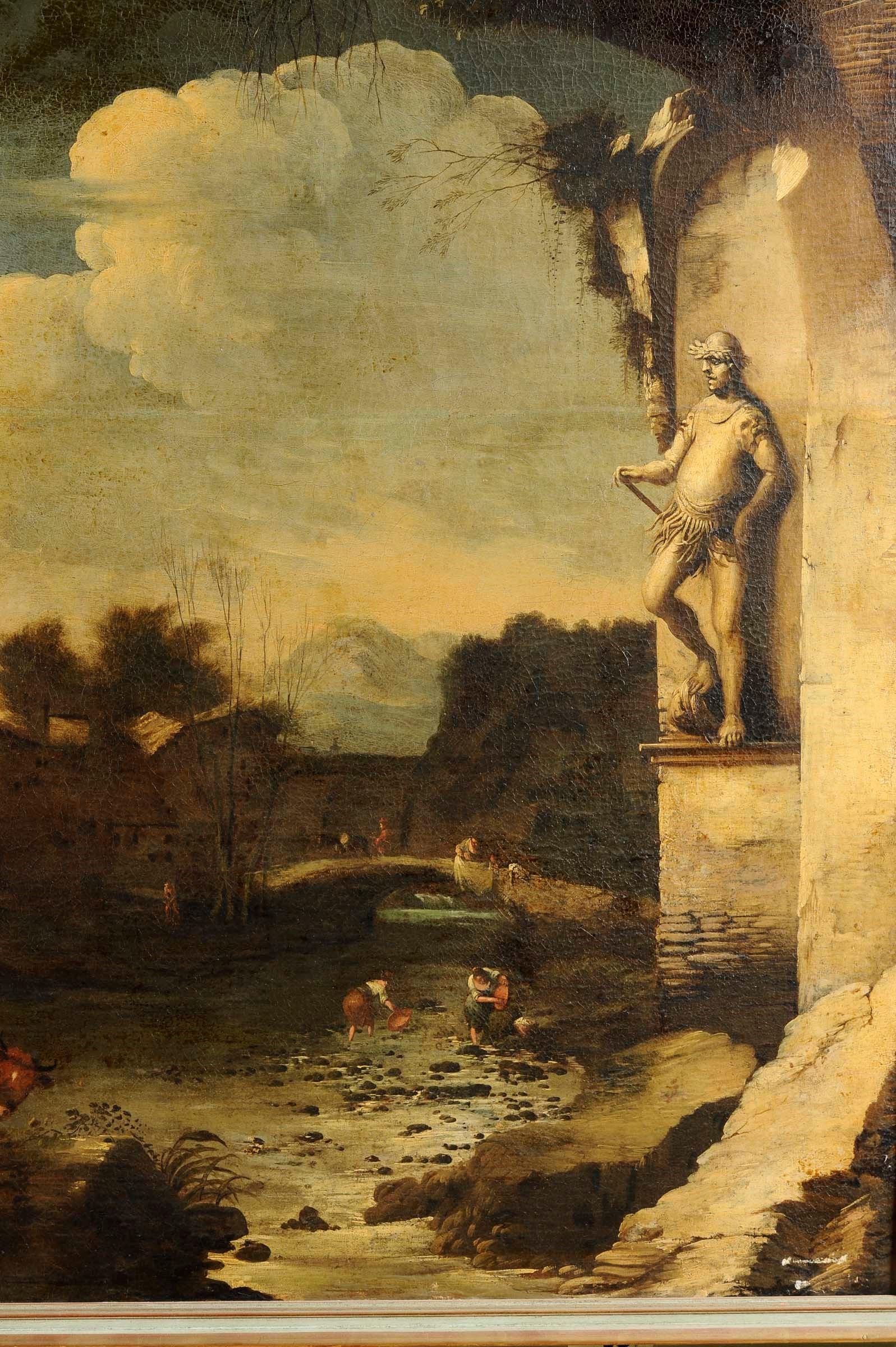 Antonio Travi detto il Sestri (Genova 1608-1665), Paesaggio con rovine e figure - [...] - Bild 3 aus 4