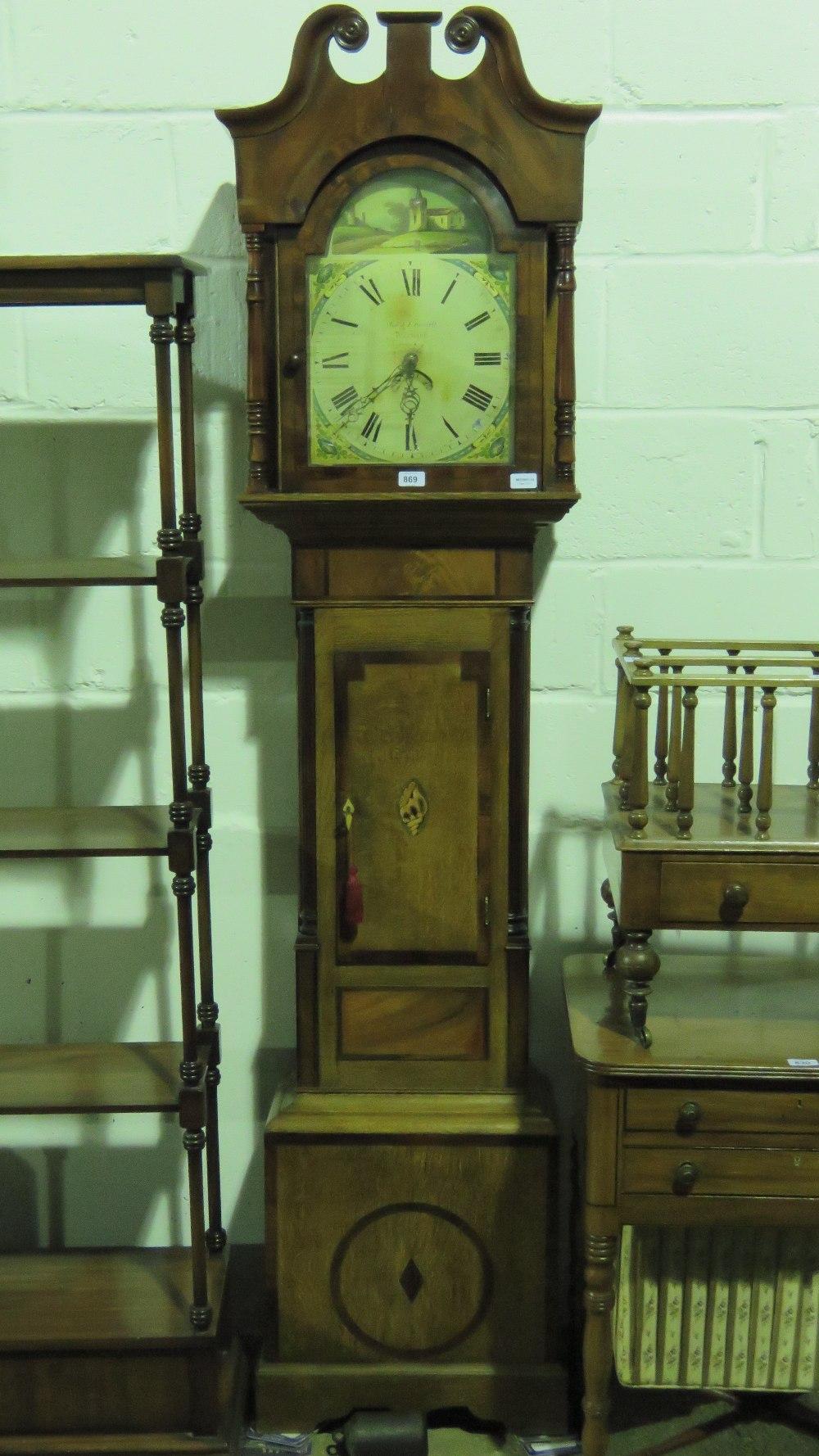 Lot 869 - A 30hr mahogany and oak long case clock