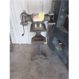 "DOUBLE END BENCH GRINDER, DAYTON , 7"", 1/2 HP,"