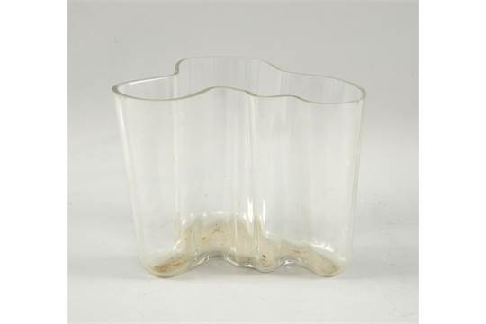 Alvar Aalto An Early Savoy Vase Of Clear Glass With Engraved