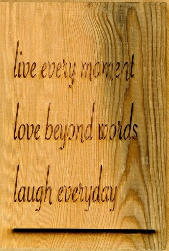 Lot 1P - Artist: Student Title: Live Every Moment Size: 26 x 18 x 1.