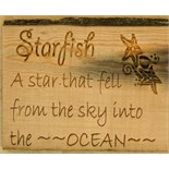 Lot 1K - Artist: Kira Barnes (Helston Community College) Title: Starfish Quote Size: 22 x 31.