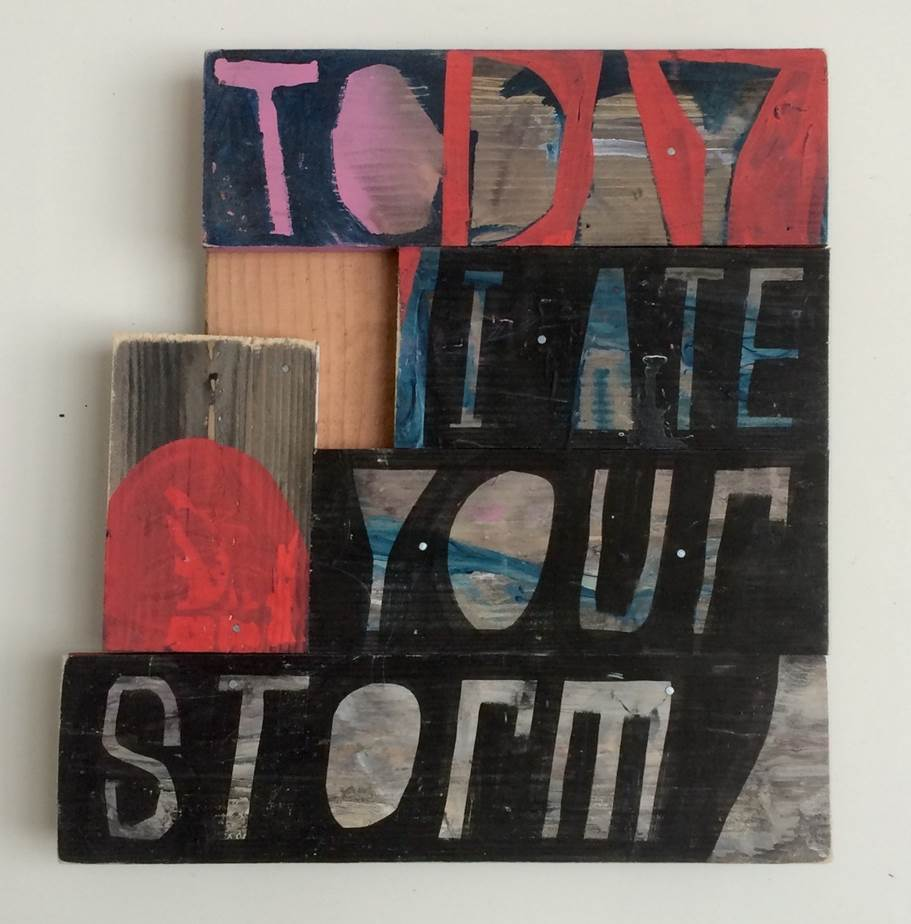 Lot 42 - Artist: Samuel Bassett Title: Today I ate your Storm Size: 47.5 x 44 x 4.