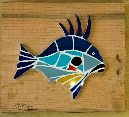 Lot 15 - Artist: Keith Johnson Title John Dory Size: 28.5 x 32 x 2.