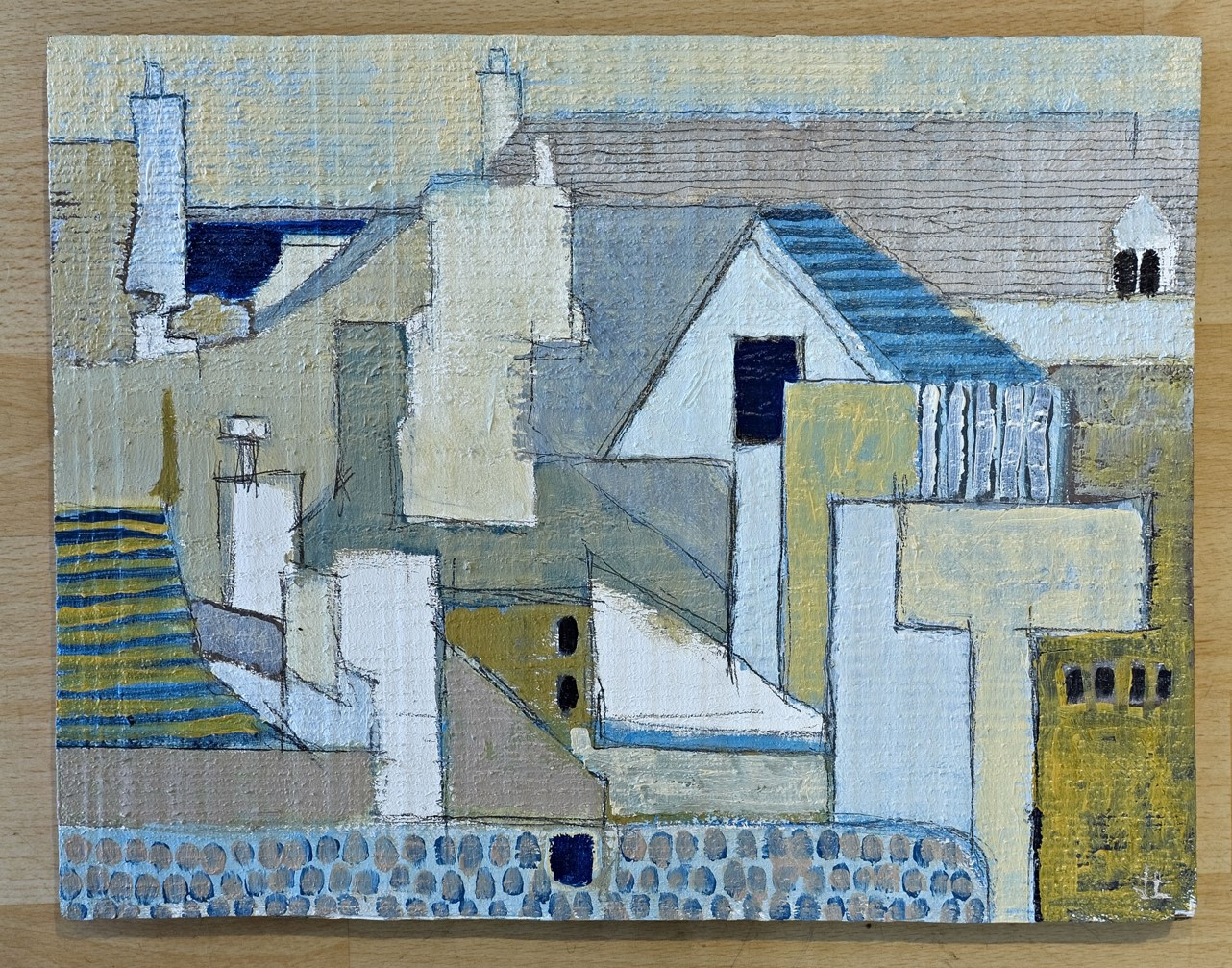 Lot 3 - Artist: Jason Lilley Title: No one to see the distress flare (St Ives) Size: 30 x 39 x 2.
