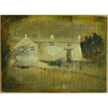 Lot 21 - Artist: John Piper Title: Winter Cottage Size: 30 x 42 x 2.
