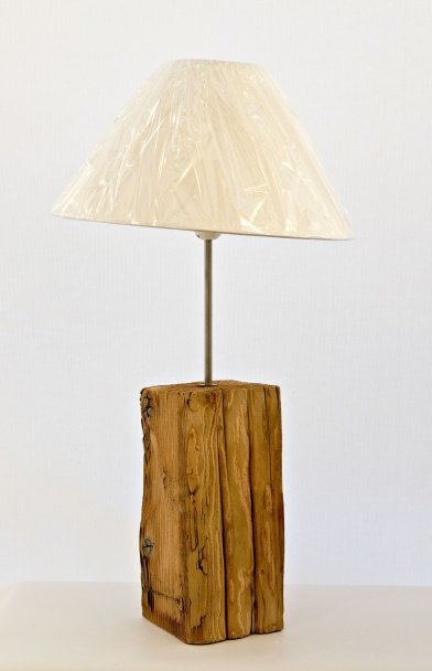 Lot 29 - Artist David Raine & Dena O'Brien Title: Lamp Base & Lampshade Size: 14 x 14 x 76(h) cm