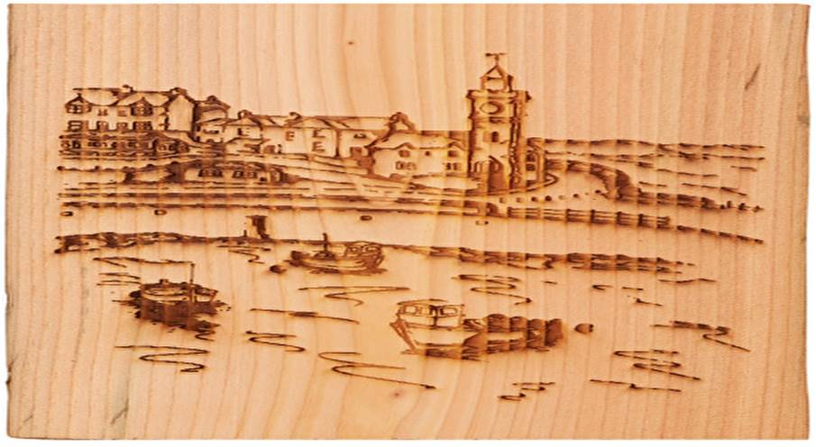 Lot 16 - Artist: Seasalt Clothing & Helston Community College Title: A View to the Clock Tower Size: Approx.