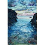 Lot 31 - Artist: Gilly Johns Title: Sunrise Size: 44 x 29 x 2.