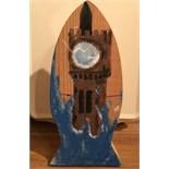 Lot 1R - Artist: Ben Chaplin (Helston Community College) Title: Surf Tower Size: 13 x 31 x 12