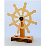 Lot 1N - Artist: Joe Lander (Helston Commumnity College) Title: Ships Wheel Size: 14 x 45 x 58(h)