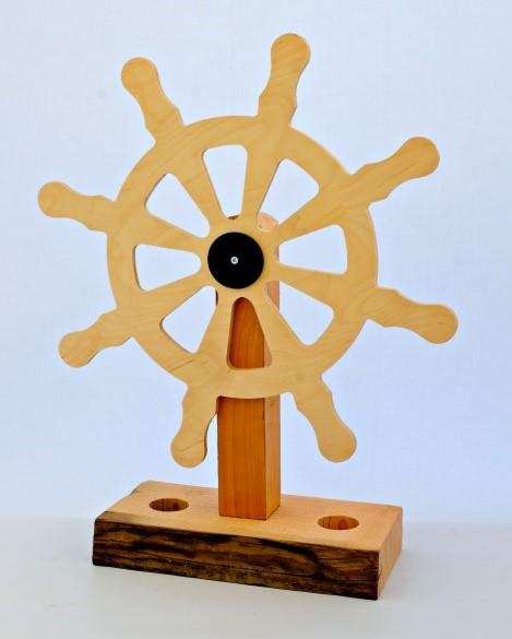 Lot 1N - Artist: Joe Lander (Helston Commumnity College) Title: Ships Wheel Size: 14 x 45 x 58(h)