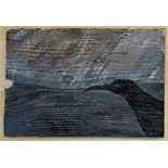 Lot 28 - Artist: Caroline Quentin Title: Cornish Rain and Chough Size: 29 x 42 x 1cm Medium: Acrylic &