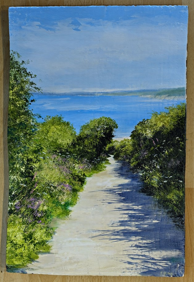 Lot 8 - Artist: Heather Howe Title: From the Woods to the Sea Size: 43.5 x 29 x 1.