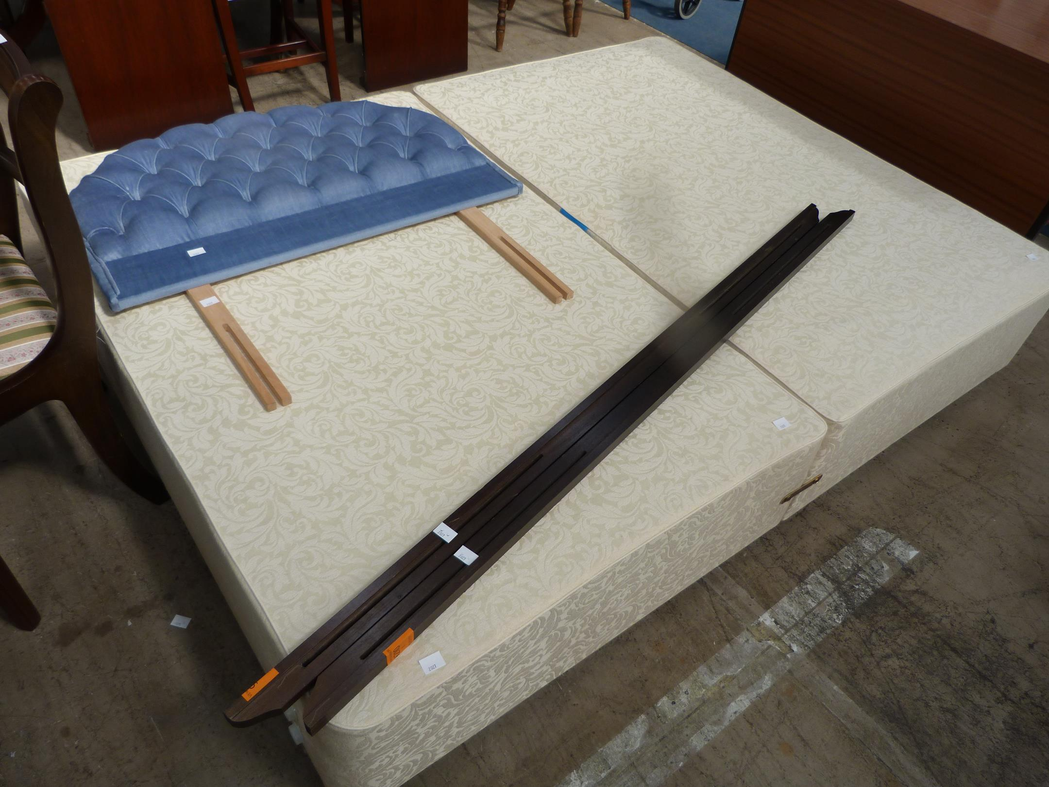 A double divan bed base with single headboard and two for Double divan bed base and headboard
