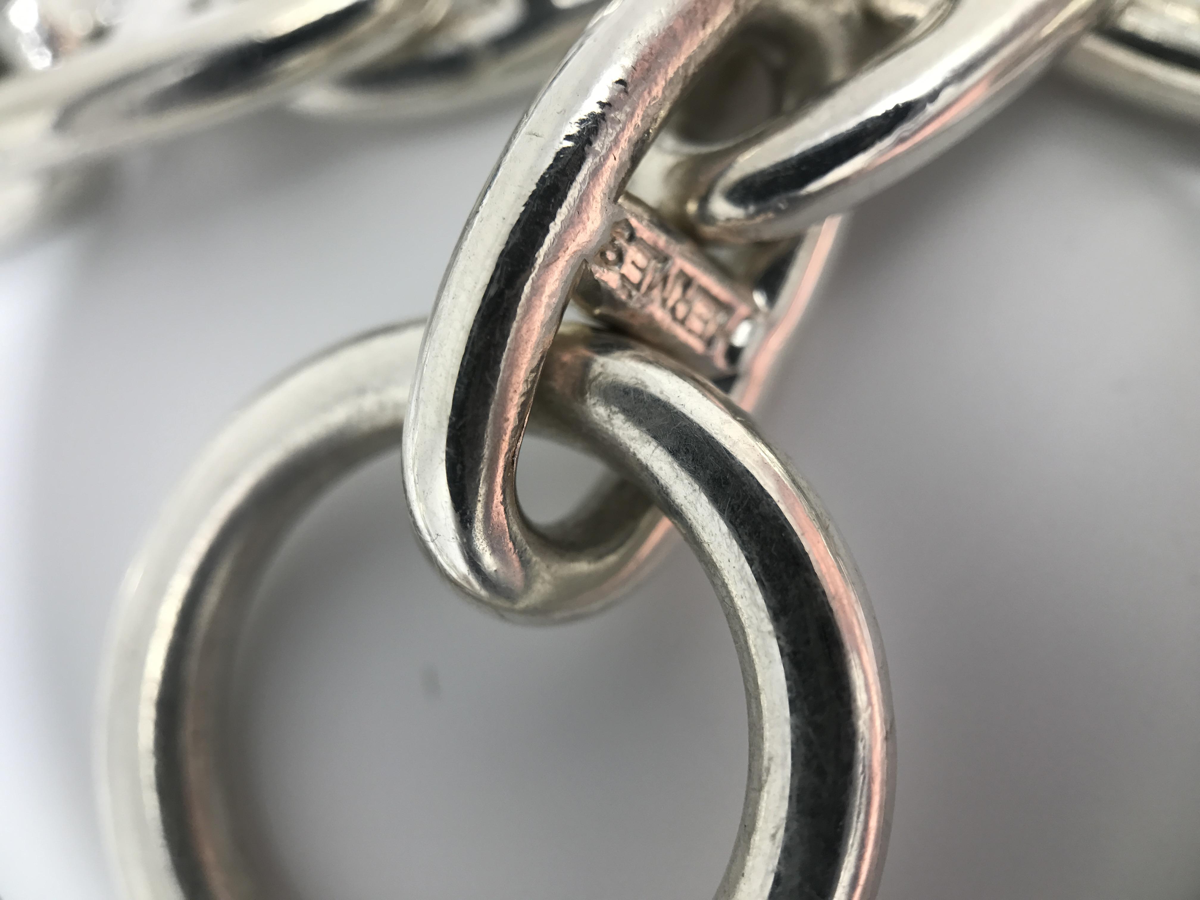 Hermes 925 sterling silver 109.4 Grams - Image 2 of 7