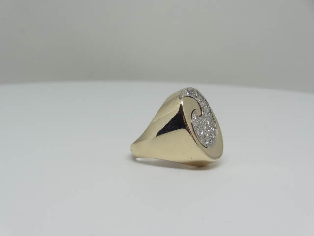 14k Yellow gold ring around the diamonds 14k yellow gold 11.1 gr Approx. - Image 3 of 7