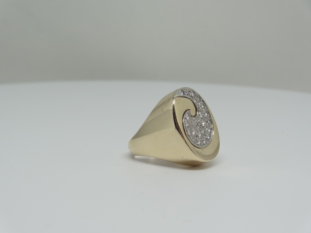 14k Yellow gold ring around the diamonds 14k yellow gold 11.1 gr Approx. - Image 4 of 7