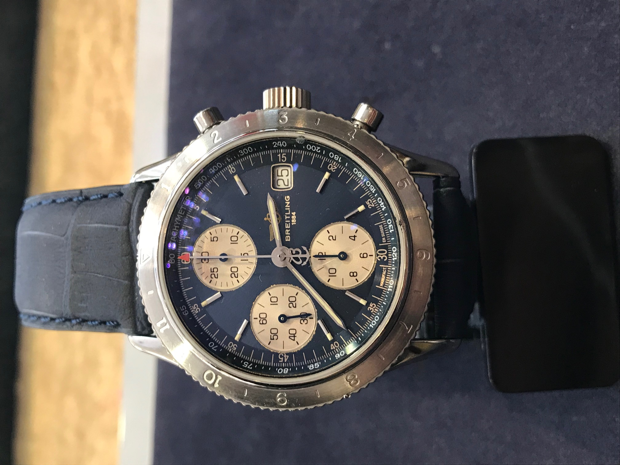 Breitling Chronomat 41mm, New Strap fusion Aquatic - Image 3 of 8