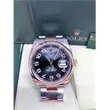 ROLEX 116201 ROSE GOLD AND STEEL
