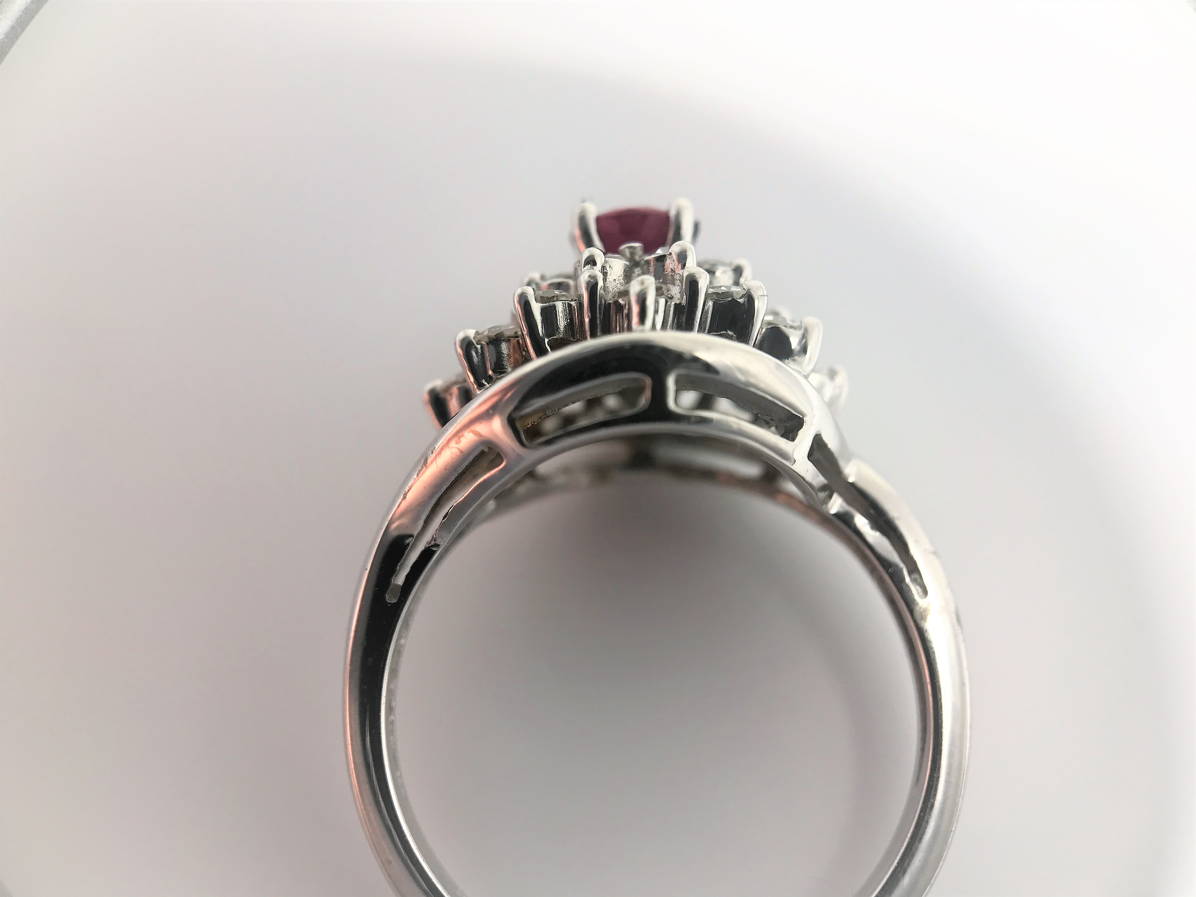 14k White Gold Ring Total weight: 3.3 gram - Image 2 of 3