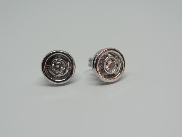 14k white gold Earring Studs 2.3 gr 8mm diameter each Approx. - Image 3 of 6