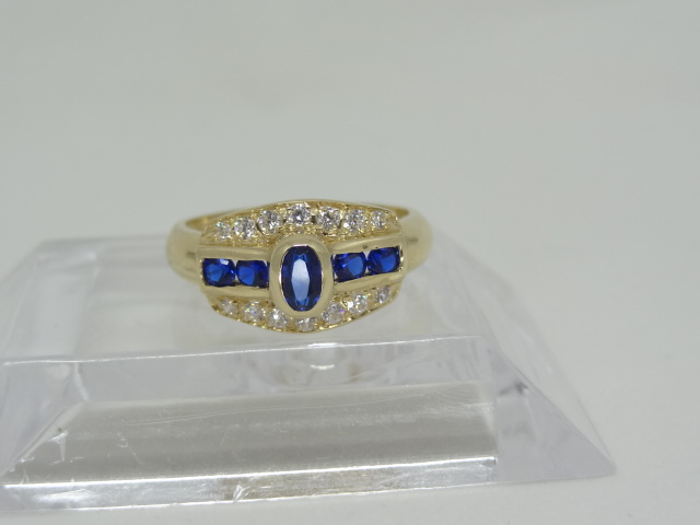14K yellow gold Ring Signed '585' for 14K. - Image 3 of 3