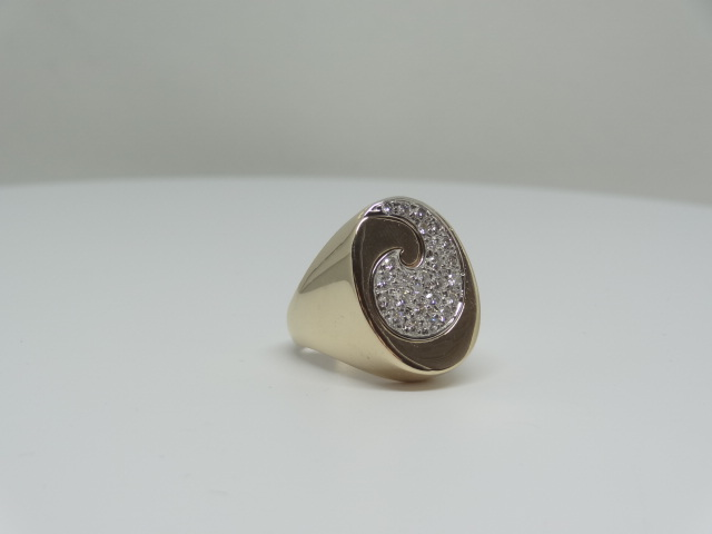 14k Yellow gold ring around the diamonds 14k yellow gold 11.1 gr Approx. - Image 5 of 7