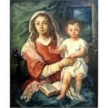 Otto Grassl, 1891 München – 1976 DachauÖl/Holz. Maria mit dem Jesuskind. Guter Zus