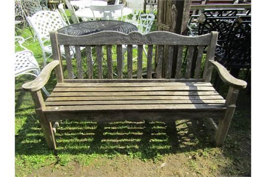 Astonishing A Pj Bridgman Co Ltd Weathered Iroko Three Seat Garden Ibusinesslaw Wood Chair Design Ideas Ibusinesslaworg
