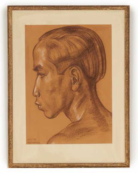 Lot 27 - JOHAN RUDOLF BONNET (DUTCH, 1895-1978) - PORTRAIT OF A BALINESE MAN