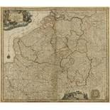 Belgium.- Seutter (Matthäus) Germaniae Inferioris sive Belgii Pars Meridionalis Exhibens X …