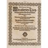 Bramer (Benjamin) Beschreibunge und Underricht wie allerley Theylungen zu den Mathematischen …